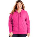 Just My Size Slub-Cotton Full-Zip Women's Hoodie OJ168