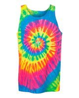 Dyenomite Multi-Color Spiral Unisex Tank Top 420MS