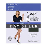 JMS Smooth Finish Control Top RT Pantyhose 2-Pk 85103