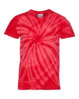 Dyenomite Youth Cyclone Vat-Dyed Pinwheel Short Sleeve T-Shirt 20BCY
