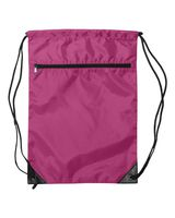 Liberty Bags Denier Nylon Zippered Drawstring Backpack 8888