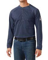 Bulwark Long Sleeve Henley Long Sizes QT20L