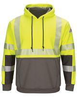 Bulwark Hi-Visibility Color-Blocked Pullover Hooded Fleece Sweatshirt - Long Sizes SMB4L