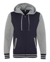 Independent Trading Co. Unisex Varsity Hooded Full-Zip Sweatshirt IND45UVZ