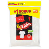 Hanes Boys TAGLESS Crewneck Undershirt 6-Pack (Includes 1 Free Bonus Undershirt) B21386
