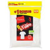 Hanes Boys TAGLESS Crewneck Undershirt 6-Pack (Includes 1 Free Bonus Undershirt) B21386