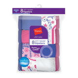 Hanes Ultimate Girls' Cotton Hipsters 8-Pack GUCHP8