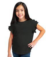 Boxercraft Girls' Ruffle Sleeve T-Shirt YT64