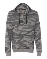 Burnside Camo Hooded Full-Zip Sweatshirt 8615