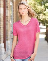J. America Women's Oasis Wash V-Neck T-Shirt 8132