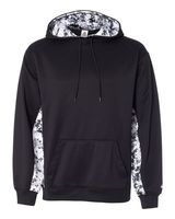 Badger Digital Camo Colorblock Performance Fleece Hooded Sweatshirt 1464