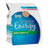 Leggs Hosiery 60103 Sheer Energy Waistband Free Control Top ST Pantyhose