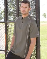 Rawlings Short Sleeve Poly Dobby Quarter-Zip Pullover 9702