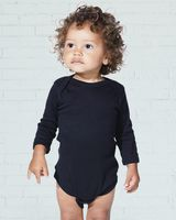 Rabbit Skins Infant Long Sleeve Baby Rib Bodysuit 4411