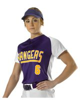Alleson Athletic Women's Two Button Fastpitch Jersey A00058