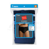 Hanes Classics Mens TAGLESS No Ride Up Briefs with Comfort Flex Waistband Assorted 7-Pk 7764L7