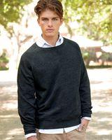 J. America Triblend Crewneck Sweatshirt 8875