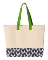 Brookson Bay Patterned Bottom Beach Tote BB100