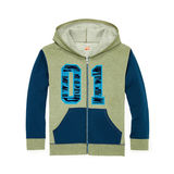 Hanes Boys' Graphic Fleece Colorblock Full Zip Hoodie D264