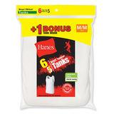 Hanes Boys TAGLESS ComfortSoft A-Shirt 6-Pack (Includes 1 Free Bonus A-Shirt) B372A6