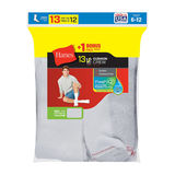 Hanes Men's Cushion Crew Socks 13-Pack (Includes 1 Free Bonus Pair) 184V13