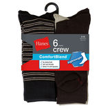 Hanes Men's Comfortblend Lightweight Casual Dress Socks 6-Pack CB81/6