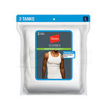 Hanes Classics Mens Traditional Fit ComfortSoft TAGLESS Ribbed A-Shirt 3-Pk 7990W3