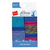 Hanes Girls Active Stretch Hipster 5-Pack GHAHP5
