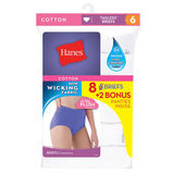 Hanes Women's 100% Cotton Brief White 8-Pack P840WH