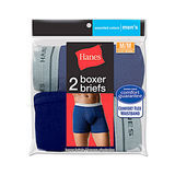 Hanes Mens Assorted Blues Boxer Brief 2-Pk 7349VT