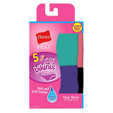 Hanes Best Girls' Cotton Stretch Bikinis 5-Pack GHBCK5