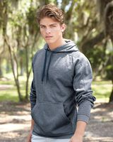 J. America Polyester Fleece Hooded Pullover 8973