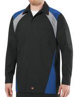 Red Kap Long Sleeve Tri-Color Shop Shirt - Long Sizes SY18L