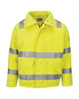 Bulwark Hi-Visibility Lined Bomber Jacket with Reflective Trim - CoolTouch2 JMJ4