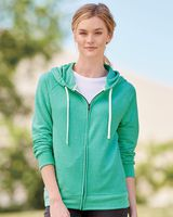 JERZEES Women's Snow Heather French Terry Full-Zip Hood Sweatshirt 92WR