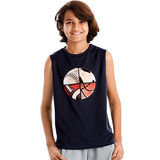 Hanes Sport Boys' Graphic Sleeveless Tech Tee OD176
