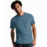 Hanes Mens TAGLESS ComfortSoft Dyed Crewneck Pocket T-Shirt 4-Pk 2176A4