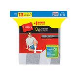 Hanes Men's Cushion Crew Socks 13-Pack 184V13