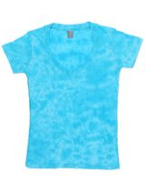 J. America Caitlin Women's Tie-Dye V-Neck Tee 8159
