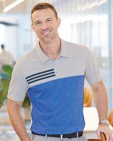 Adidas Heathered Colorblock 3-Stripes Sport Shirt A508