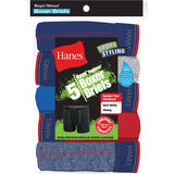 Hanes Boys Sport Style Dyed Boxer Brief with Comfort Flex Waistband 5-Pack B74SSB