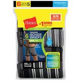 Hanes Men's FreshIQ ComfortSoft Boxer Briefs 6-Pack 7347Z6