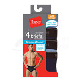 Hanes Mens TAGLESS ComfortBlend Dyed Brief with Comfort Flex Waistband 4-Pk 7500P4
