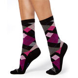 HUE Irregular Argyle Sock U17868