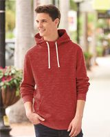 J. America - Melange Fleece Hooded Sweatshirt - 8677