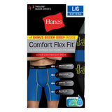 Hanes Men's Comfort Flex Fit® Breathable Mesh Long Leg Boxer Briefs 4-Pack (includes 1 Free Bonus Boxer Brief) CFFLP4