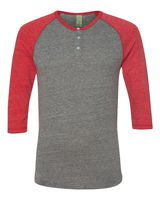Alternative Eco-Jersey Three-Quarter Sleeve Raglan Henley 1989