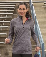 Russell Athletic Women's Striated Quarter-Zip Pullover QZ7EAX