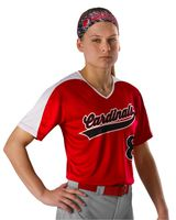 Alleson Athletic Girls Vneck Fastpitch Jersey A00054
