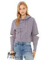 BELLA + CANVAS Fashion Women's Cut Out Fleece Hoodie 7504
